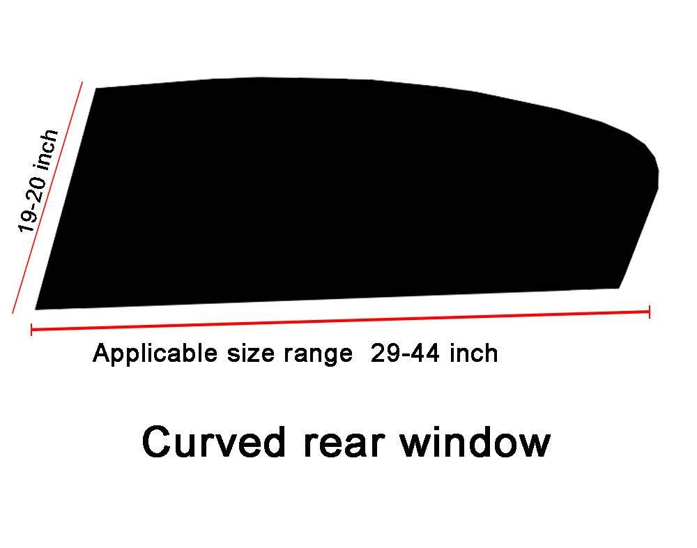 Curved Rear Window Small Yanbyn Car Window Shade Breathable Mesh Sun Shade Protect Your Baby/&Children from Suns Glare /& Harmful UV Rays 2 Pack