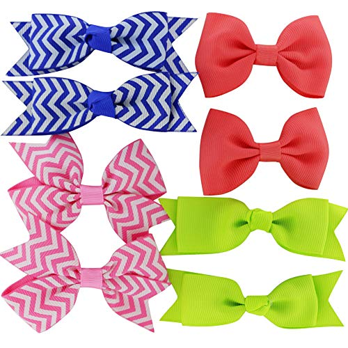 Grosgrain Ribbon Hair Bows Boutique Flowers Clips For Girls Teens Kids Toddlers Set Of 40 by Myamy (Image #7)