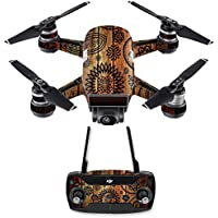 Skin for DJI Spark Mini Drone Combo - Wooden Floral| MightySkins Protective, Durable, and Unique Vinyl Decal wrap cover | Easy To Apply, Remove, and Change Styles | Made in the USA