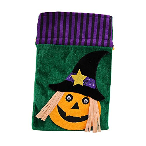 Lljin Halloween Cute Witches Candy Bag Packaging Children Party Storage Bag Gift (C)