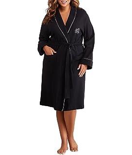 8df7564c77cd6 Lauren Ralph Lauren Womens Plus Size Essentials Quilted Collar and Cuff Robe