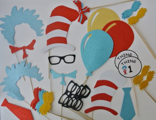 Dr Seuss Inspired Photo Booth Props]()
