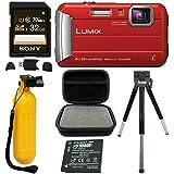 Panasonic DMC-TS30R LUMIX Active Lifestyle Tough Camera (Red) +Action Kit