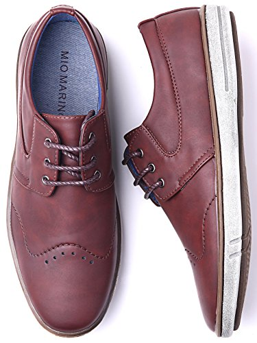 Oxford Shoes Rugged Mens Dress Mio Casual Fashion Shoes Marino for Shoes Men Countryside Brick 6wxq0YU