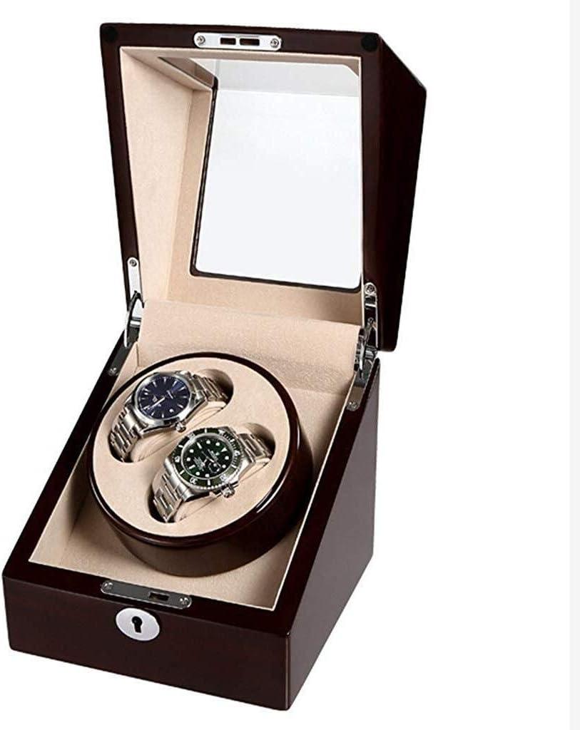 ギフトウォッチワインダーウォッチワインダー、回転振動台超静音シングルヘッドミニポータブル電動モーターボックス自動機械式時計はBoxs巻