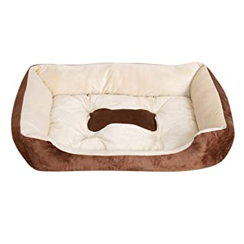 Otoño Invierno Mascotas Perro Cama Calentamiento Casa de Perro de Peluche de Alta Elasticidad PP Algodón Mascota Nido de Perro Cálido Nido Para Cat Puppy ...