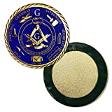 Master Mason Masonic Car Emblem Freemason Blue