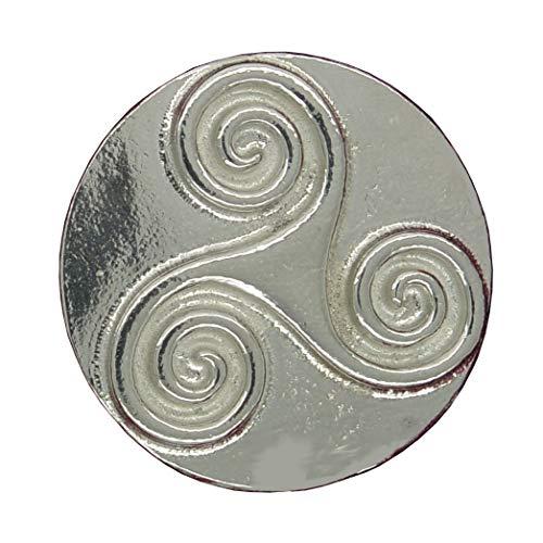 Pewter Womens Brooch - Triskele Brooch, Triscele Brooch, Triskelion Brooch, Round Triskel, Celtic Brooch, Fine Pewter, Handcast by William Sturt