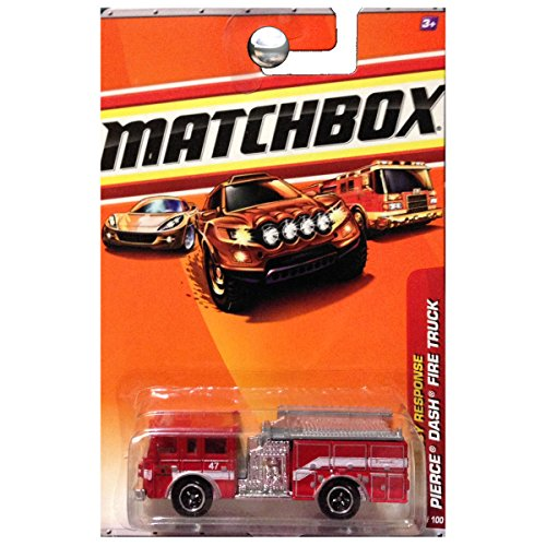 Matchbox Emergency Response Pierce Dash Fire Truck Engine Red #57 of 100