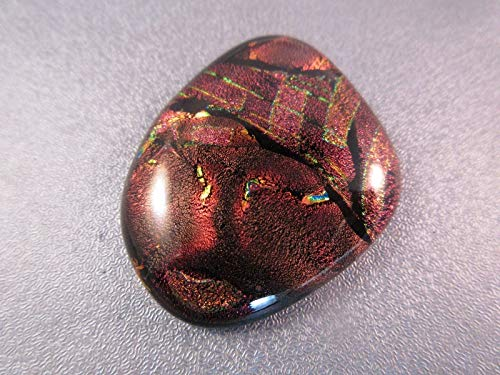 Dichroic Fused Glass Cabochon 1pc