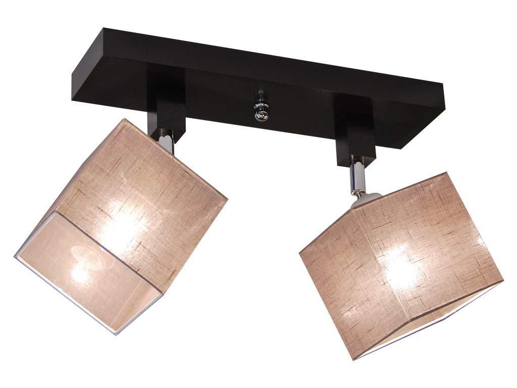 Deckenlampe - HausLeuchten LLS216DPR, Deckenleuchte, Leuchte, Lampe, 2-flammig, Massivholz