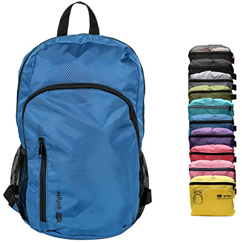 Golyte Ultralight Packable Travel Hiking Backpack Daypack Royal Blue Expandable Padded Straps