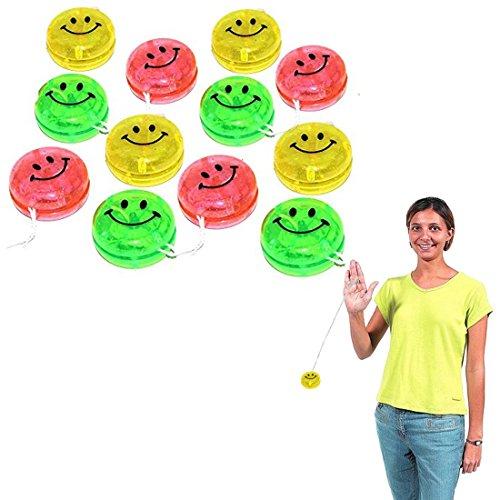 Dazzling Toys Party Favor Set Glitter Smiley Yo-yos 24 (Cheap Yoyos)