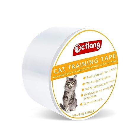 Sinrextraonry - Cinta Adhesiva de Doble Cara para Entrenamiento de Gatos, antiarañazos, para Muebles, sillones, sofás (Rollo Individual)