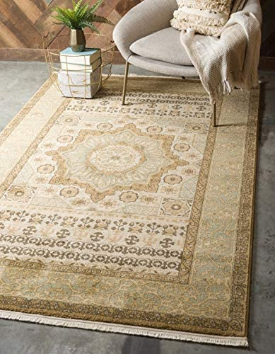 Unique Loom Palace Collection Traditoinal Geometric Classic Cream Area Rug 9 0 x 12 0