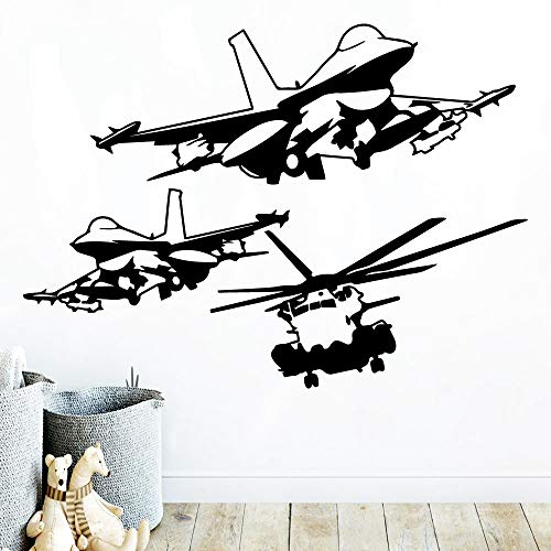 Hot Helicopter Waterproof Wall Stickers Wall Art Decoration for Living Kids Room Wall Stickers Waterproof Wallpaper a2 57x78cm]()