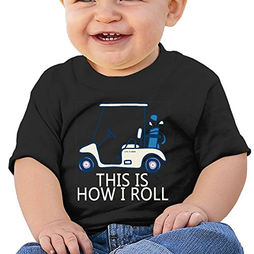 T-Shirts This is How I Roll Golf Cart Birthday Day 6-24 Months Baby Boy Kids (Cart Third Golf)