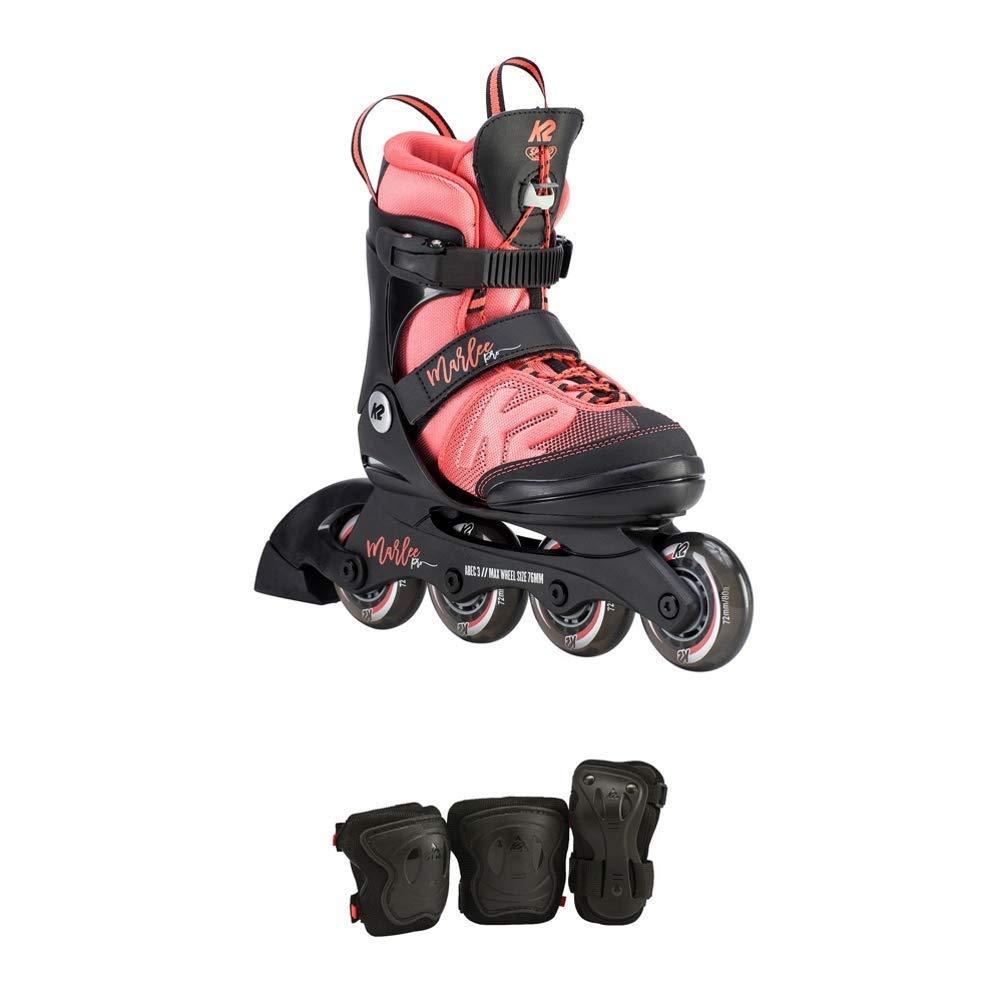 K2 Skate Youth Marlee Pro Pack Inline Skates, Black/Coral