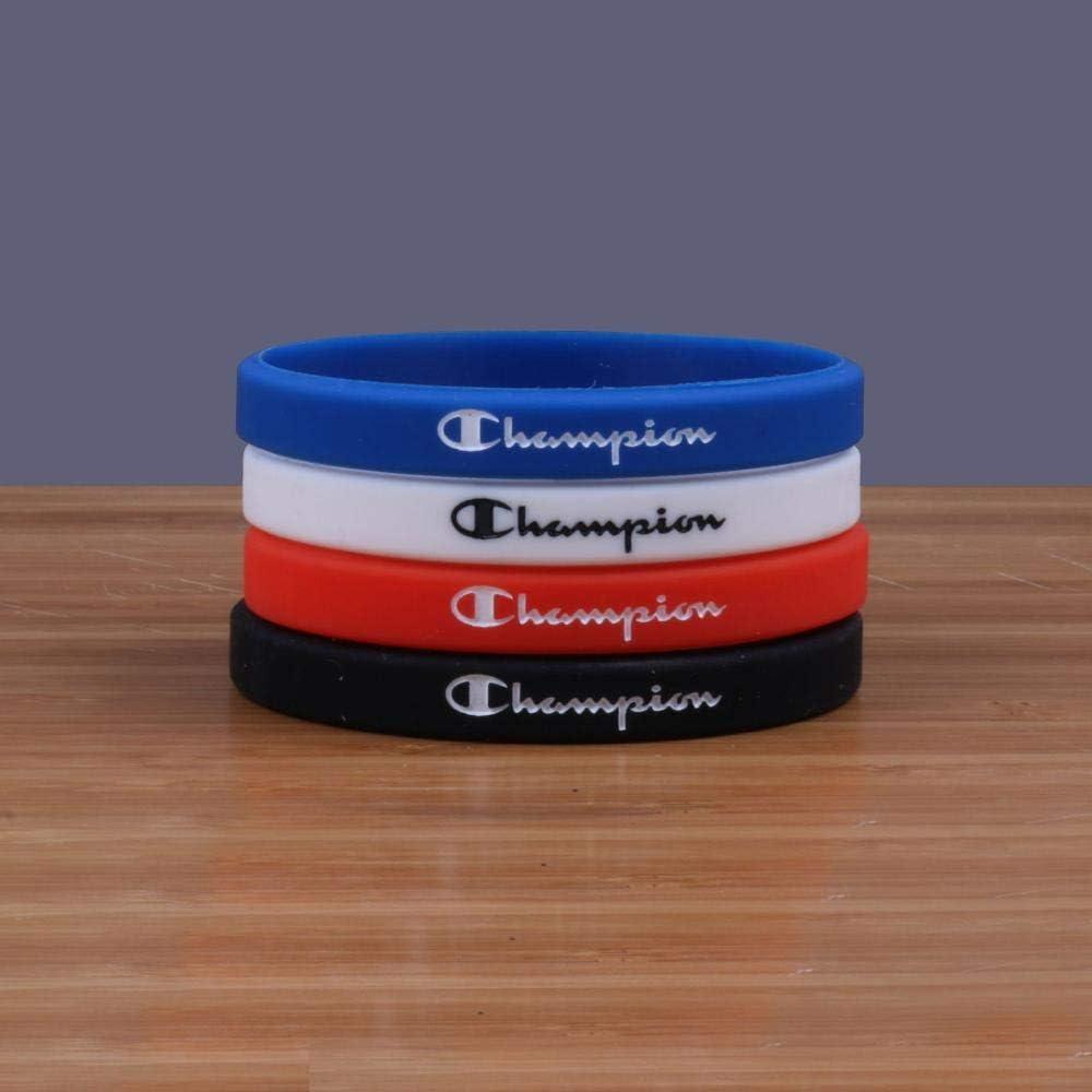 und Damen Basketball-Handgelenk Band schmale Version 5 Paare DuDuDu Silikonarmb/äNder Kinder Champion Silikon Armband kreative Herren