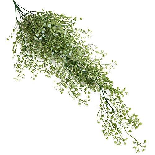 Fake Flower Horseshoe Shell Grass Artificial Fake Silk Flower Vine Hanging Garland Plant Home Garden Wedding Decor (A) ()