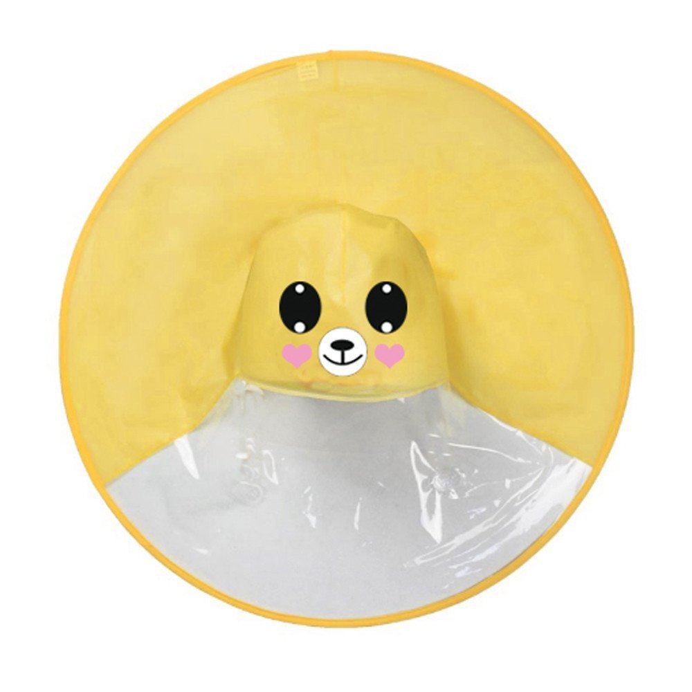 Ufo Yellow Ducks Shape Rain Hat Cape Foldable Headwear Outdoor for Kids Boys Girls Cute Cartoon Duck Children Raincoat Umbrella S