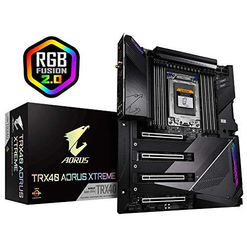 GIGABYTE TRX40 AORUS Xtreme (sTRX AMD TRX40/Fins-Array Heatsink/16+3 Phases Infineon Digital VRM/Gen 4 AIC with 4 X M.2 NVMe/Intel WiFi 6/Intel Dual 10GbE LAN/XL-ATX/AMD Motherboard)