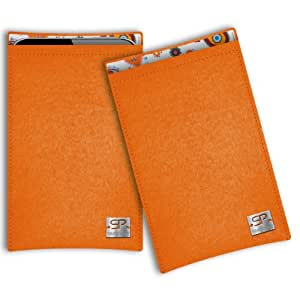 SIMON PIKE Cáscara Funda de móvil Boston 10 naranja Kazam Trooper X3.5 Fieltro de lana