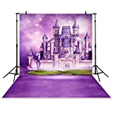 Allenjoy 5x7ft photography backdrop Castle Butterfly Purple Dream princess baby shower children background photo studio photocall