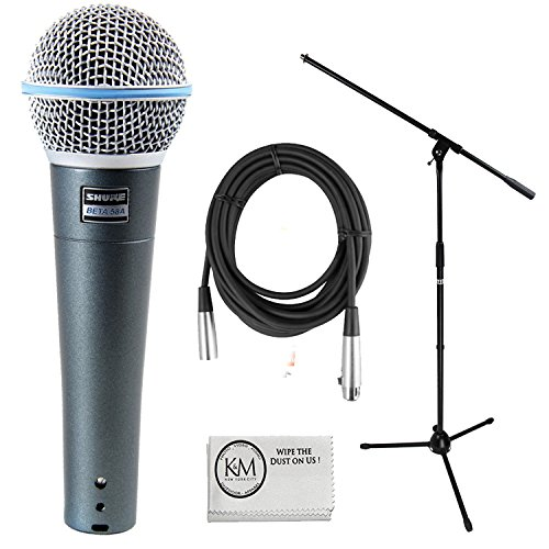 Shure Beta 58A Supercardioid Dynamic Vocal Microphone Bun...