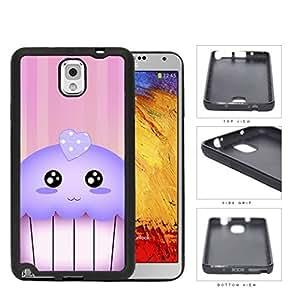 Kawaii Cupcake And Pink Vertical Stripes Rubber Silicone TPU Cell Phone Case Samsung Galaxy Note 3 III N9000 N9002 N9005