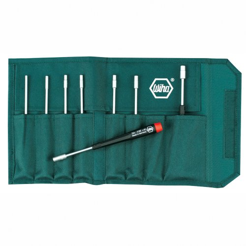 Wiha 26599 Nut Driver Set, Inch In Canvas Pouch, 8 Piece