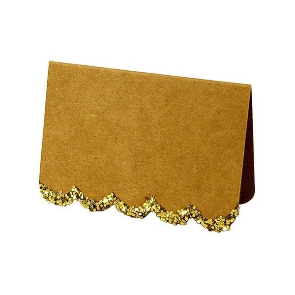 Meri Meri Gold Glitter Scallop Place Cards