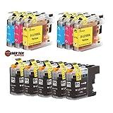 Laser Tek Services® Brother LC107 and LC105 11-Set Compatible Super High Yield Ink Cartridges (5BK, 2C, 2M, 2Y) MFC-J4310DW MFC-J4410DW