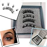 Newly Designed Magnetic Lashes - 4 Magnets Each Strip for a Perfect Fit - Cruelty-Free, No Glue Needed, Comfortable and Reusable