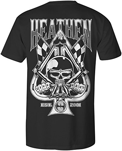 Heathen Spade T-Shirt (X-Large, Black)