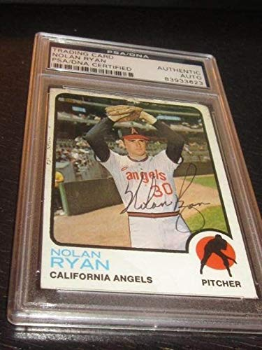 - Nolan Ryan New York Mets Baseball Autographed Signed 1973 Topps Card PSA/DNASlabbed