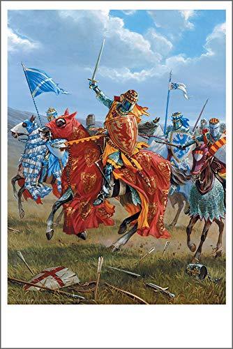 Bannockburn Oil - Mark Churms Fine Art Prints: 1314 AD - King Robert The Bruce (Scotland) Signed Paper Print