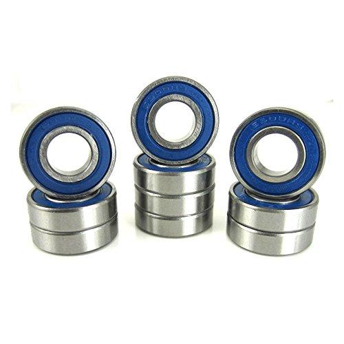 10x22x6mm Precision Ball Bearings ABEC 3 Blue Rubber Seals (10)