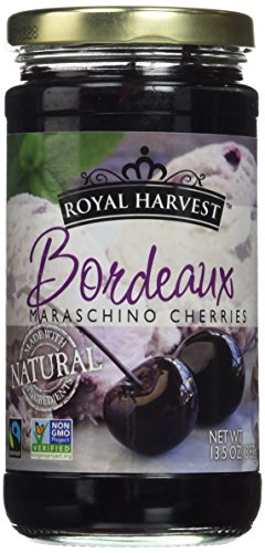 Royal Harvest Maraschino Bordeaux Cherries 13.5 Ounce (Pack of 3) ()
