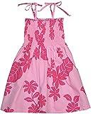 RJC Girls Solid Color Floral Elastic Tube Dress PINK 14