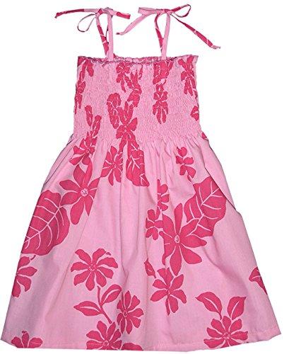 RJC Girls Solid Color Floral Elastic Tube Dress PINK 14 by RJC