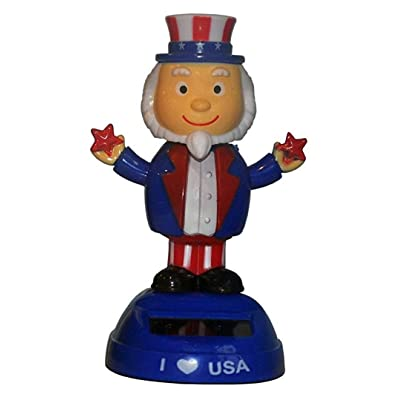 CoolKids Uncle Sam Patriotic Solar Dancing I Love USA Character: Toys & Games