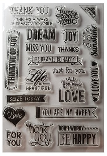 TR StampArts Clear Silicone Stamps with Friendly and Loving Phrases for Scrapbooking, Bullet Journals, Photo Albums, Card Making, Decoration and Paper Crafts (4 x 6 ()