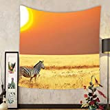 Gzhihine Custom tapestry Safari Decor Tapestry Leopard Resting Under Dramatic Cloudy Sky Africa Safari Wild Cats Nature Picture Print Bedroom Living Room Dorm Decor Beige Brown