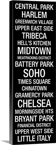 Kate Lillyson Premium Thick-Wrap Canvas Wall Art Print entitled Bus Roll: New York City Neighborhoods - Soho Nyc District