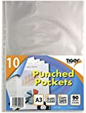 Tiger A3 portrait punched pockets 80 micron top opening x 10