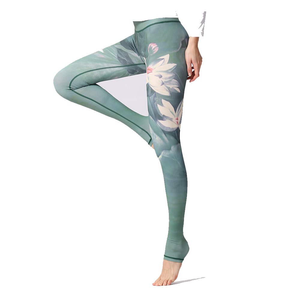 Kentop - Leggings de Yoga para Mujer, Ajustados Verde Verde S