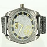 Black Metal Iced Out Band Men Chrome Finish Exclusive Ice Master Watch Jojo King