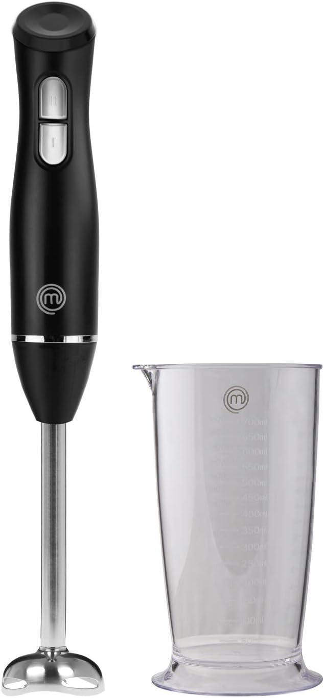 Masterchef 525494 Batidora de mano, Incl. vaso dosificador 700 ml, Dos velocidades, Acero inoxidable, Plastic
