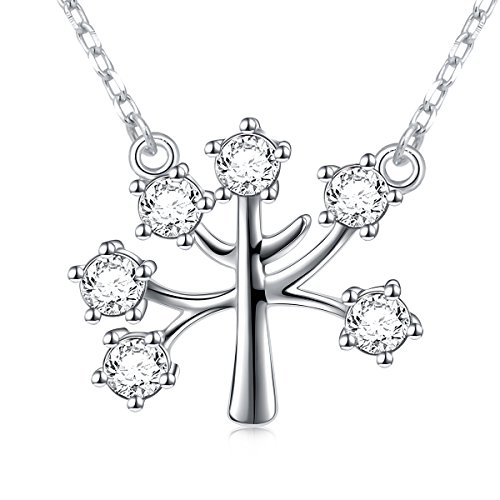 Wishing Tree 925 Sterling Silver Cz Family Tree of